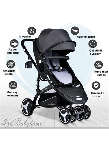 Baby Home Baby Home 945 Travel Sistem Bebek Arabası Ve 505 Bebet Sepeti Anne Yanı Beşik Gri